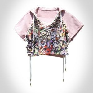 SUNSET ROSE HOODED TOP