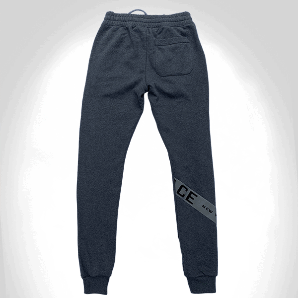 BLACK IS NOT INFERIOR COTTON ONELACE STRAP PANT